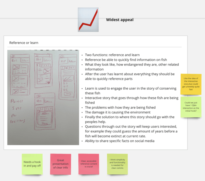 Storyboarding and user flow