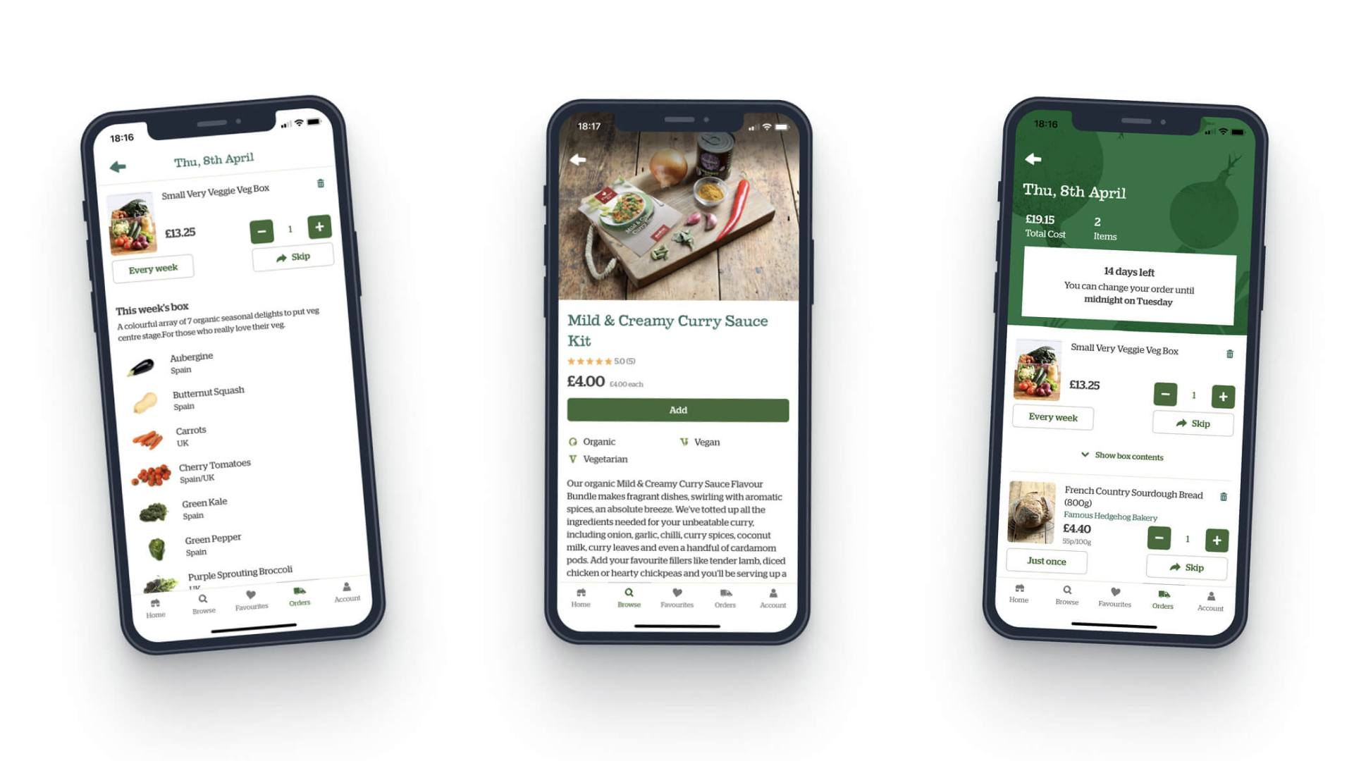 Abel & Cole Organic Food Delivery App