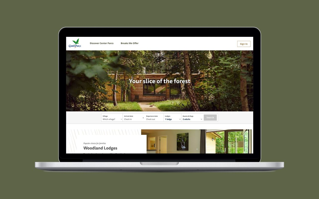 How we revamped Center Parcs' online booking system